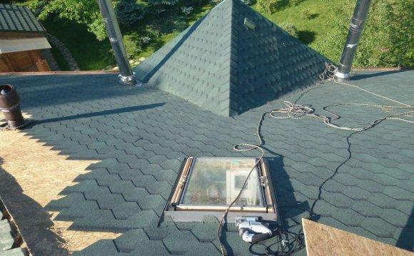 Крыши частных домов фото