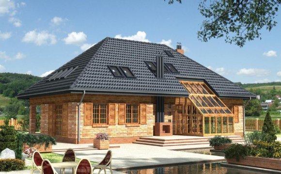 Двускатная крыша Вальмовая